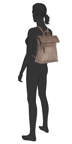 Mina backpack M taupe